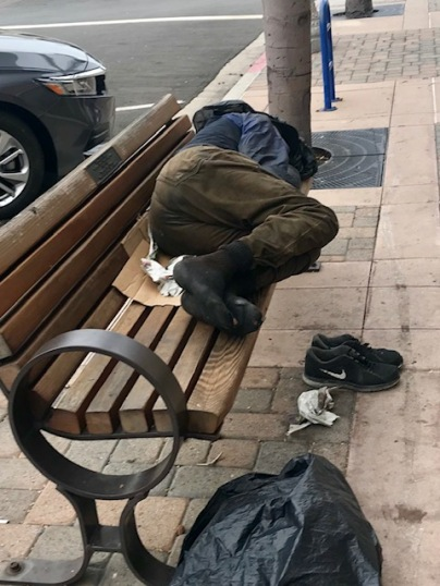 Homeless Guy Bench